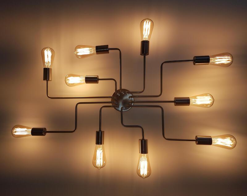 Custom bespoke rustic lighting fixture