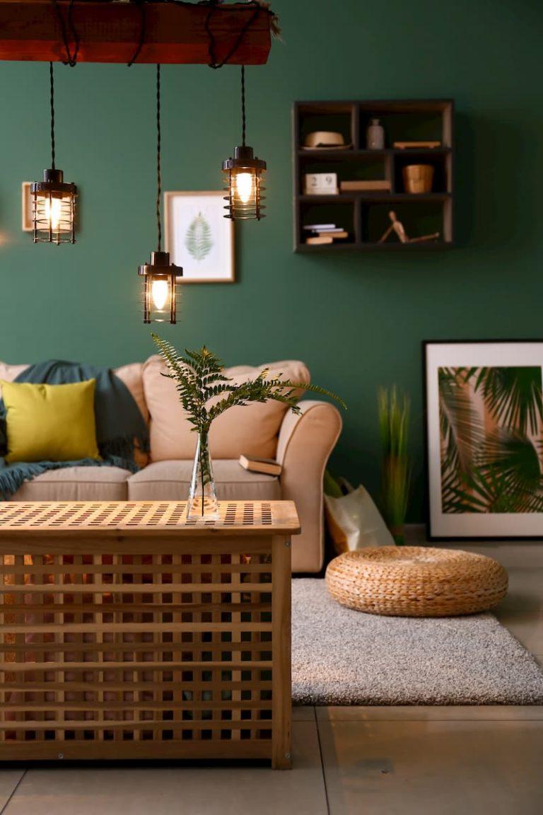 stylish lighting in modern living room